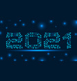 text 2021 made in circuit texture banner for vector image vector image