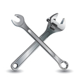 Tool on a white background Wrench and Object tool vector image vector image