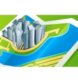 town on map vector image vector image