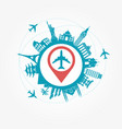 travel destinations vector image vector image