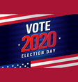 vote 2020 presidential election usa vector image