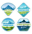 wild nature logotype collection vector image