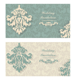 Invitation Cards set with ornaments vector image