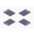 Black isometric calculator vector image