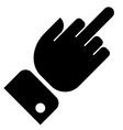 Hand showing middle finger gesture vector image