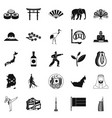 sporting pastime icons set simple style vector image