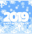 2019 greeting card vector image vector image
