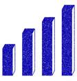 3d bar chart icon grunge watermark vector image vector image