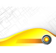 Abstract Hi tech yellow background vector image vector image