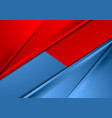 Abstract red and blue smooth contrast background vector image vector image