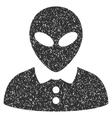 Alien Female Grainy Texture Icon vector image