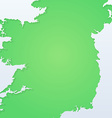 Background with Silhouette of Ireland vector image vector image
