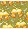 beer seamless pattern glasses of background