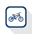 bike flat icon vector image