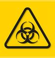 biohazard dangerous sign isolated on yellow vector image