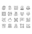 bitcoin charcoal draw line icons set vector image vector image