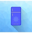 Blue Refrigerator vector image