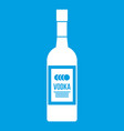 bottle of vodka icon white vector image vector image