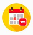 calendar cap event graduation icon vector image vector image