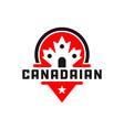 canada shield logo vector image vector image