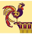 cartoon of a rooster vector image