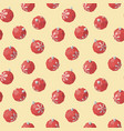 christmas toy red ball pattern vector image vector image