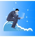 Cloud business concept vector image vector image
