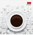 coffee cup and business strategy vector image vector image