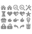 collection dotted icons user interface set 2 vector image vector image