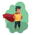 comic brave boy in superhero costume vector image vector image