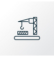 construction zone icon line symbol premium vector image