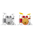 Drum sets vector image vector image
