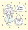 easter basket great religious holiday set vector image