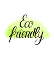 eco friendly vector image vector image