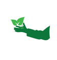 eco hand green vector image vector image