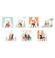 elderly couple dancing cartoon characters vector image