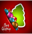 Elegant Classic Christmas flye vector image vector image