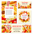 fast food restaurant menu posters templates vector image vector image