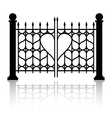 Forged gate of love vector image vector image