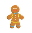 gingerbraed cookie vector image