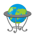 Globe on stand Model of Earth School geographical vector image vector image