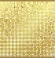 gold pixels background vector image