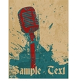 Grunge concert poster with microphone vector image