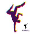 gymnast silhouette of a dancer sport symbol vector image vector image