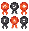 halloween rosettes vector image vector image