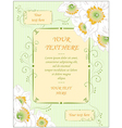 hand drawn wedding greeting card vintage style vector image