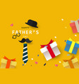 happy fathers day background or banner with vector image vector image