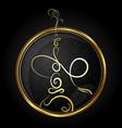 hookah golden symbol vector image vector image