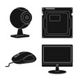 isolated object laptop and device sign vector image