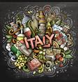 italy hand drawn cartoon doodles vector image vector image